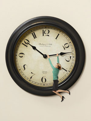 woman on clock